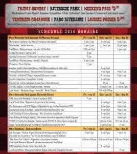 Lumberjack Fest Schedule